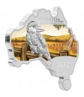 Australian Map Shaped Coin Series - Kookaburra 2012 1oz Silver Coin