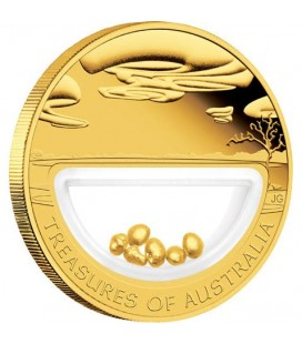 Treasures of Australia Gold 1oz Gold Locket Coin