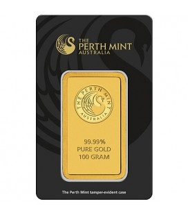PERTH MINT 100 Gram Gold Bar