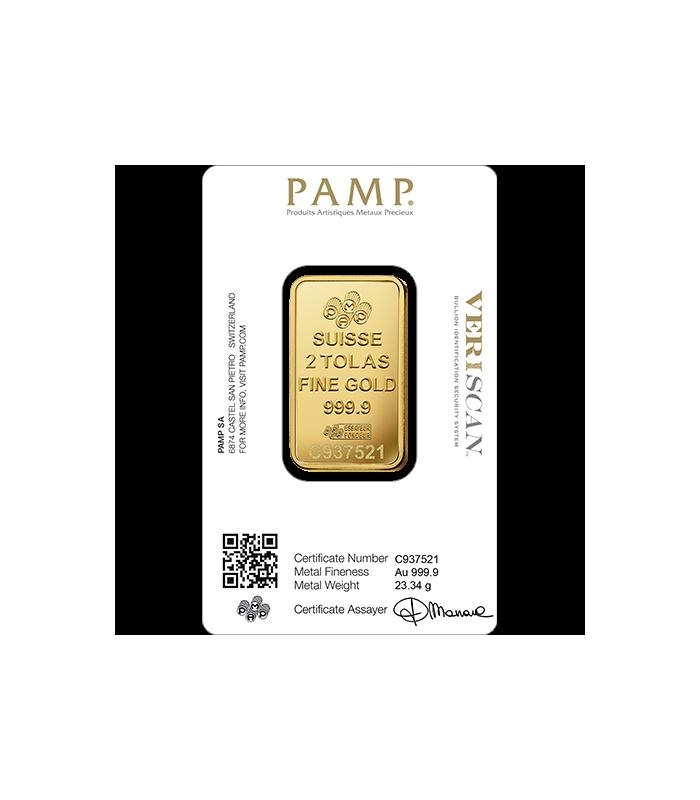 Pamp 2 Tola Gold Bar