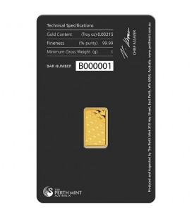 1 gram Gold Bar - Perth Mint