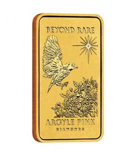 Argyle Pink Diamond 2015 1oz Pure Gold Ingot