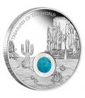 Treasures of the World – North America 2015 1oz Silver Proof Locket Coin with Turquoise