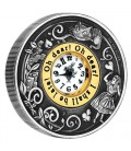 150th Anniversary of Alice's Adventures in Wonderland 2015 2oz Silver Antiqued Clock Coin