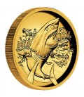 Great White Shark 2015 1oz Gold Proof High Relief Coin
