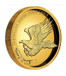 Australian Wedge-tailed Eagle 2014 2oz Gold Proof High Relief Coin
