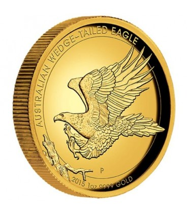 Australian Wedge-tailed Eagle 2015 1oz Gold Proof High Relief Coin