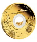 Treasures of the World – Australia 2014 1oz Gold Proof Locket Coin with Gold