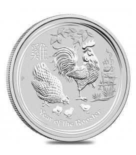 2017 Australia 1 oz Silver Lunar Rooster BU