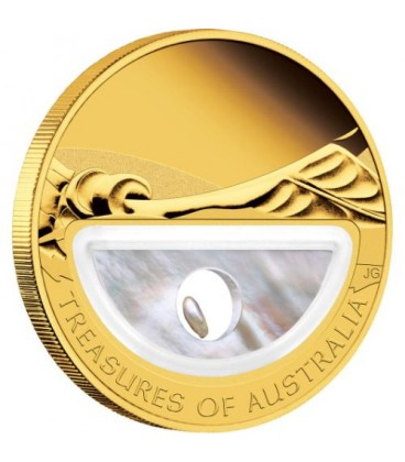Treasures of Australia - Pearls 1oz Gold Proof Locket Coin
