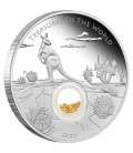 Treasures of the World – Australia 014 1oz Silve2r Proof Locket Coin with Gold