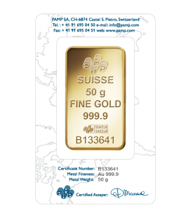 Rosa Gold Rectangular Ingot - 50 g